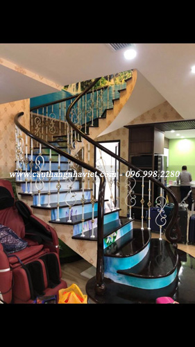 Báo giá cầu thang sắt đẹp tại Hà Nội