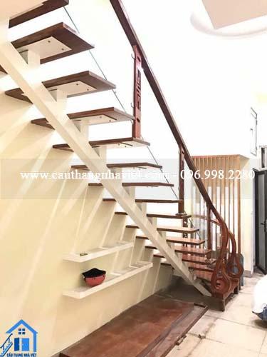 Cách chia bậc cầu thang xương cá