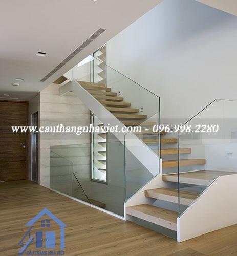 Cầu thang kính âm sàn - Đơn vị thi công giá rẻ, chất lượng