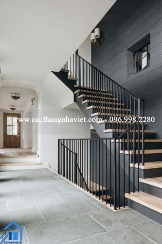 Cầu thang sắt cho nhà ống đơn giản, đẹp và tối ưu nhất