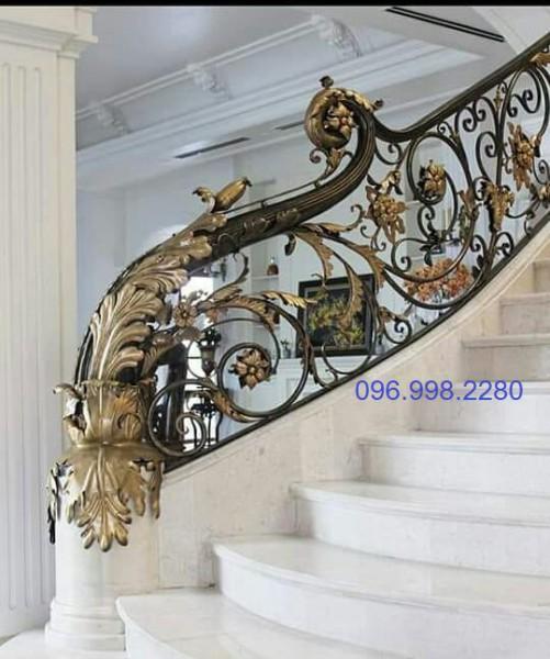Mẫu cầu thang sắt mỹ thuật đẹp cao cấp SMT02