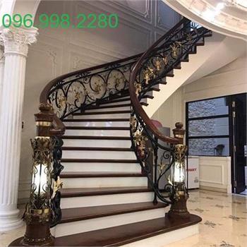 cầu thang sắt nghệ thuật đẹp SMT 07