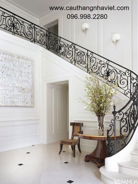 Cầu thang sắt mỹ thuật đẹp SMT14