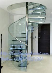 Cầu thang xoáy X03